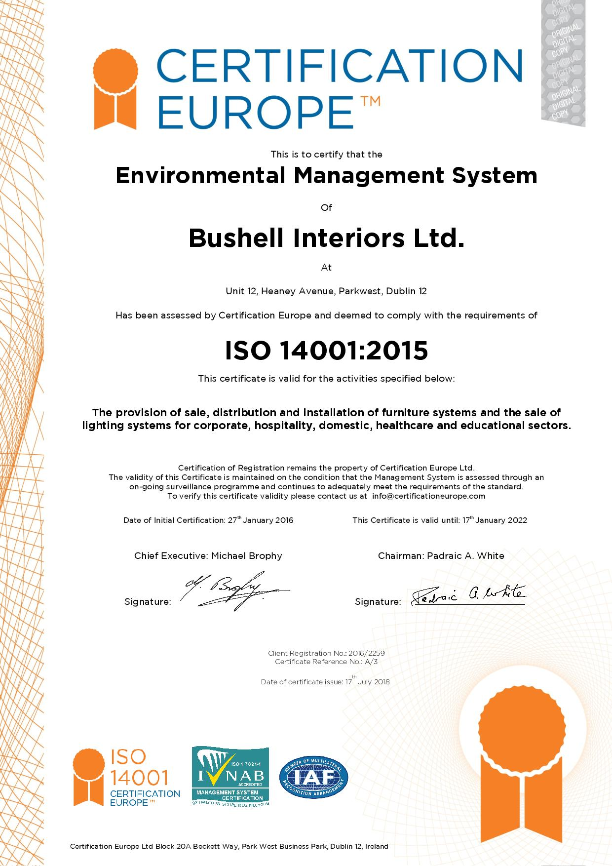 ISO14001: Environmental Management System