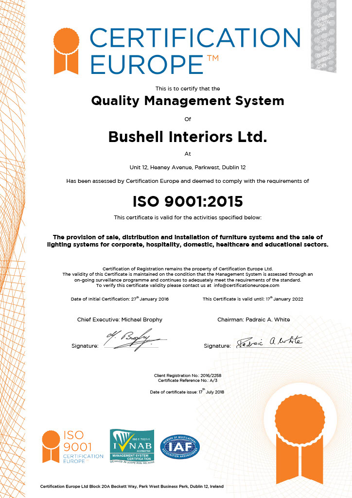 ISO9001: Quality Management System